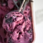Easy No-Churn Blackberry and Chocolate Chunk Ice Cream