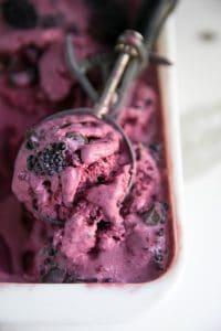 Easy No-Churn Blackberry and Chocolate Chunk Ice Cream