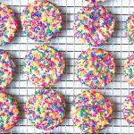 Rainbow Confetti Cookies