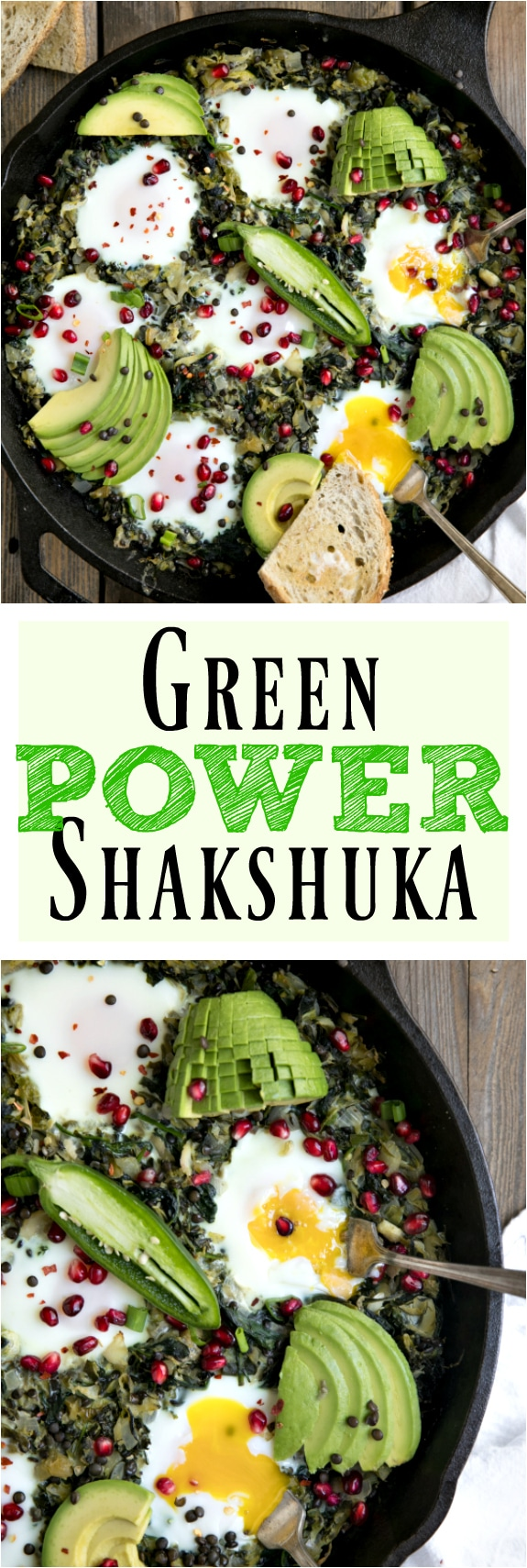 Green Shakshuka via @theforkedspoon #kale #shakshuka #eggs #healthy #lowcarbrecipe #easyrecipe | Find this recipe and more at, https://theforkedspoon.com/
