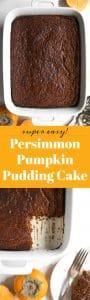 Persimmon Pumpkin Pudding Cake