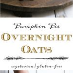 overnight oats with healthy tasting pumpkin pie yogurt in a jar