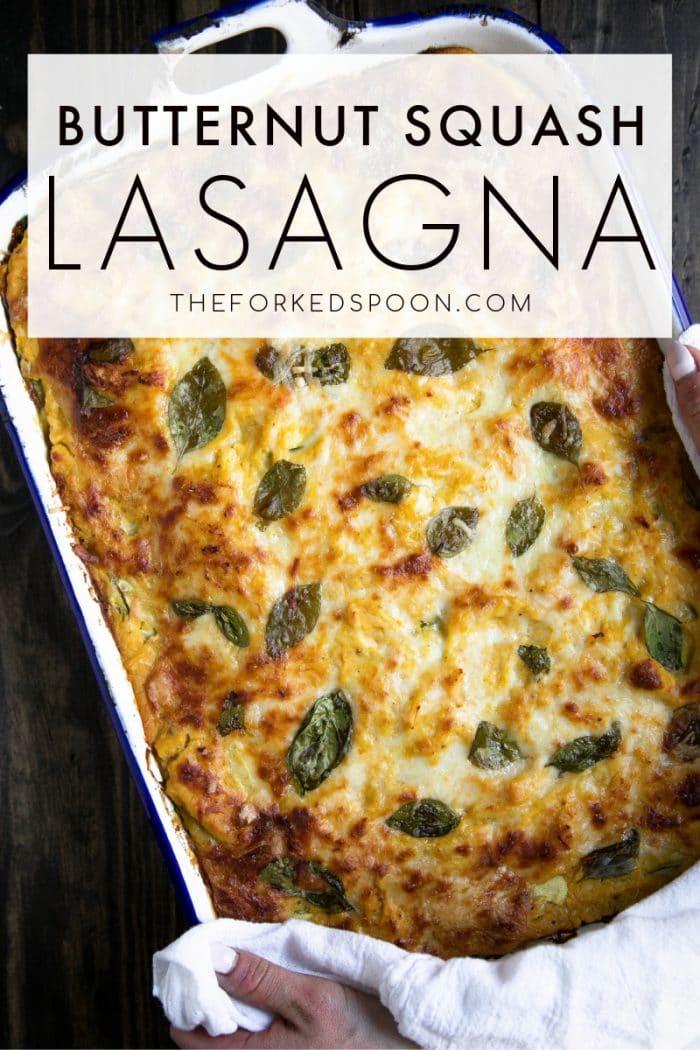 Roasted Butternut Squash Lasagna Pinterest Pin Collage Image