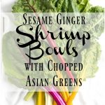 -Sesame Ginger Shrimp Bowls with Asian Chopped Greens