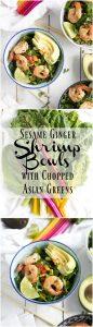 -Sesame Ginger Shrimp Bowls with Asian Chopped Greens