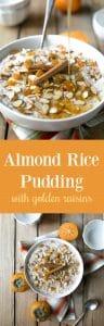 Almond Rice Pudding with Golden Raisins