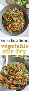 Korean Glass Noodle Veggie Stir Fry