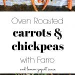 Roasted carrots with sauce and chickpeas