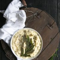 Four Cheese Mashed Potatoes with Fried Sage