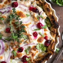 Cranberry BBQ Leftover Turkey Pizza Pie