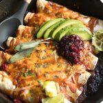 Thanksgiving Leftover Enchiladas