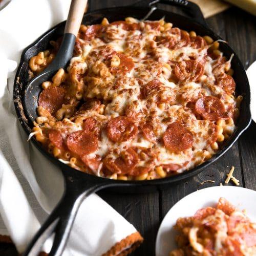 Pepperoni Pizza Mac n Cheese