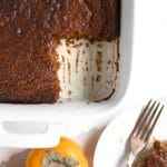 Persimmon and Pumpkin Pudding Cake