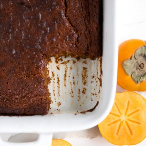 Persimmon Pumpkin Pudding Cake
