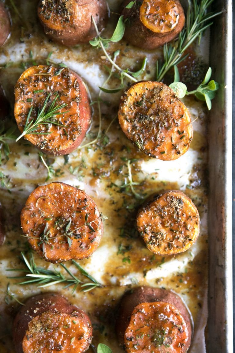 16 Easy and Delicious Thanksgiving Recipes. Easy Brown Sugar and Herb Roasted Sweet Potatoes