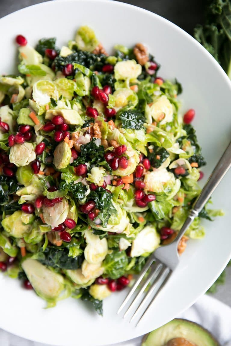 16 Easy and Delicious Thanksgiving Recipes. Shredded Brussels Sprout and Kale Salad with Lemon Vinaigrette