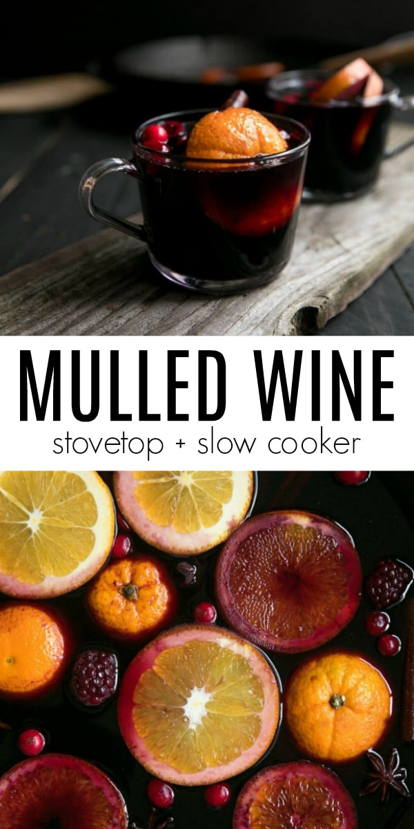 Easy Mulled Wine Recipe  #wine #mulledwine #alcohol #redwine #drinkrecipe #christmas #cocktail | For this recipe and more visit, https://theforkedspoon.com/spiced-mulled-wine-with-blackberries
