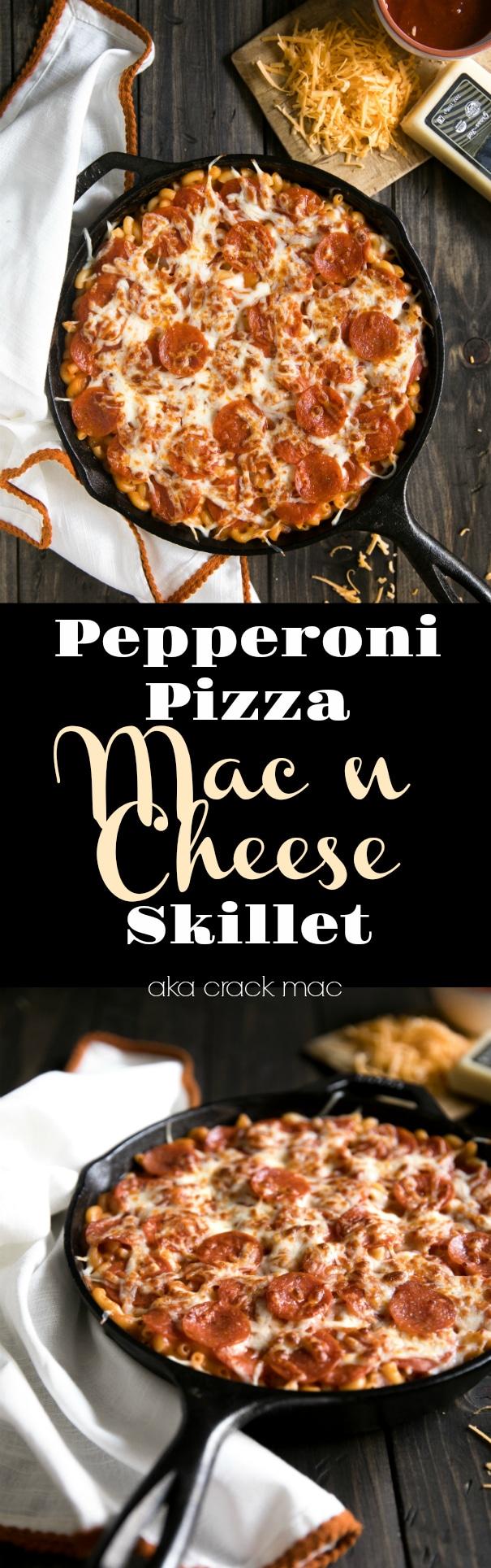 Pepperoni Pizza Mac n Cheese (aka crack mac) via @theforkedspoon #pepperoni #pizza #macncheese #macaroni #cheese #comfortfood #theforkedspoon