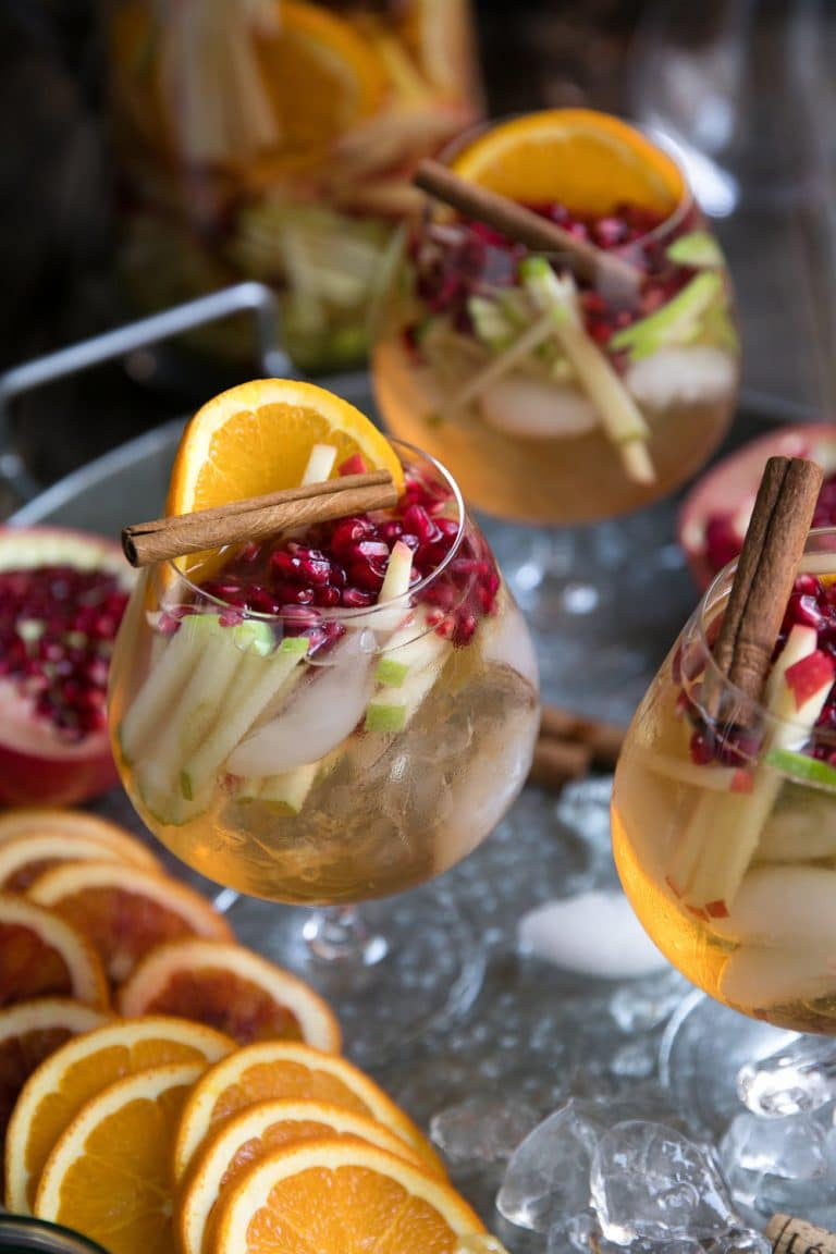 Most popular recipe posts from The Forked Spoon in 2017- Autumn Roseé Sangria with Apples and Pomegranates