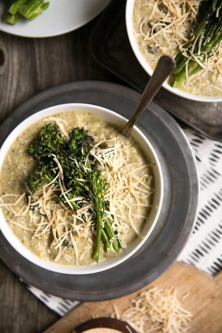 A bowl Broccoli Gouda Soup