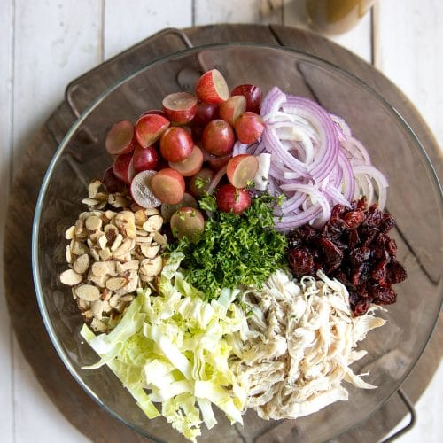 10 Minute Chicken and Grape Holiday Slaw