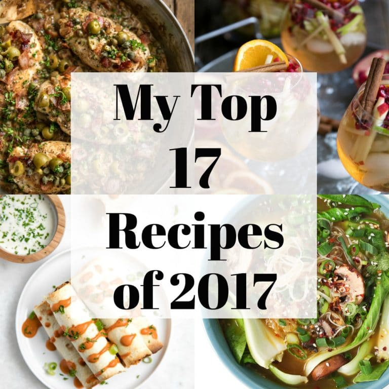 All in one place, here are the most popular recipe posts from The Forked Spoon in 2017!