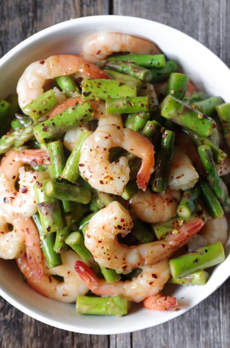 Most popular recipe posts from The Forked Spoon in 2017- Easy Shrimp and Asparagus Stir Fry