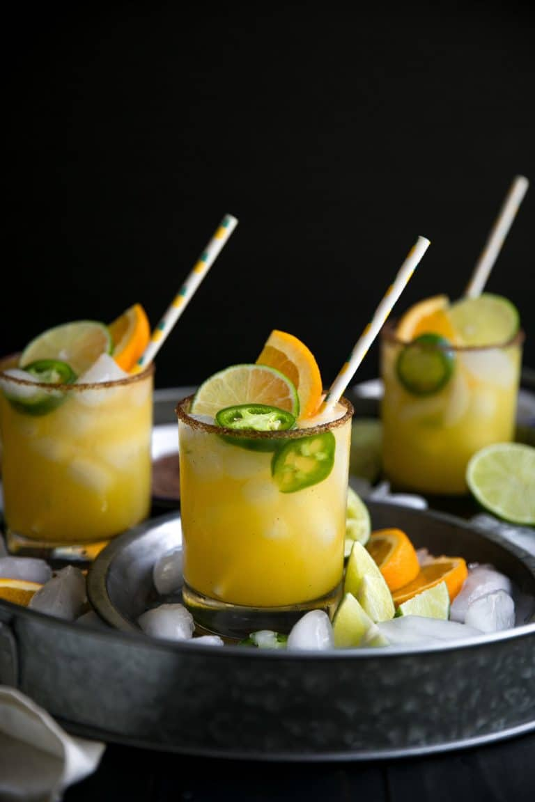Most popular recipe posts from The Forked Spoon in 2017- Spicy Orange Margarita