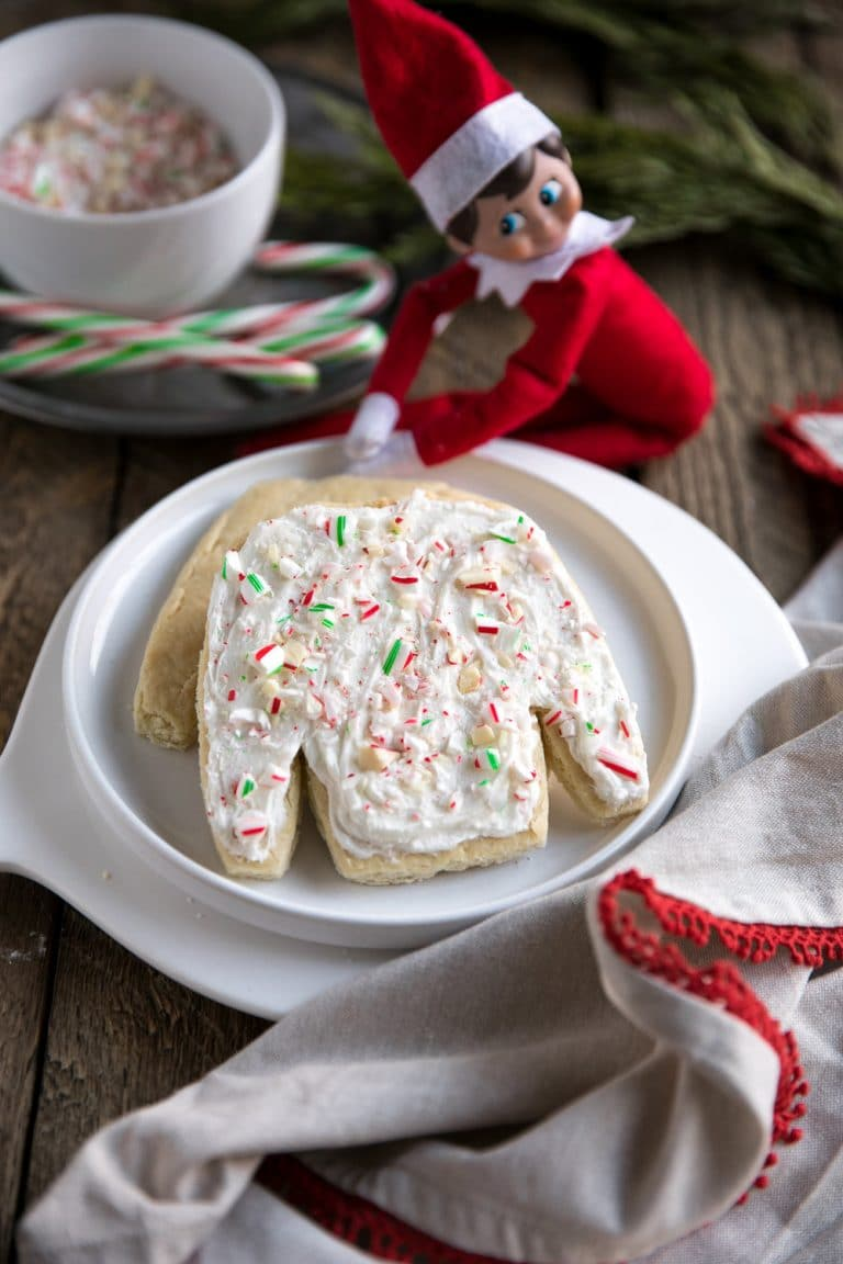 Fun, fast and easy, these Ugly Sweater Sugar Cookie Bar Cutouts are soft, thick and chewy and require no rolling or chilling.