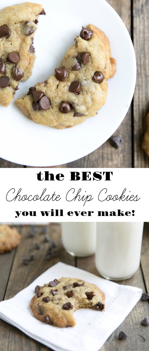 Best Ever Browned Butter Chocolate Chip Cookies. Soft, buttery, and so easy, these are guaranteed to be the best Chocolate Chip Cookies you ever make!  via @theforkedspoon #cookies #chocolate #chocolatechipcookies #dessert #snack #sweets