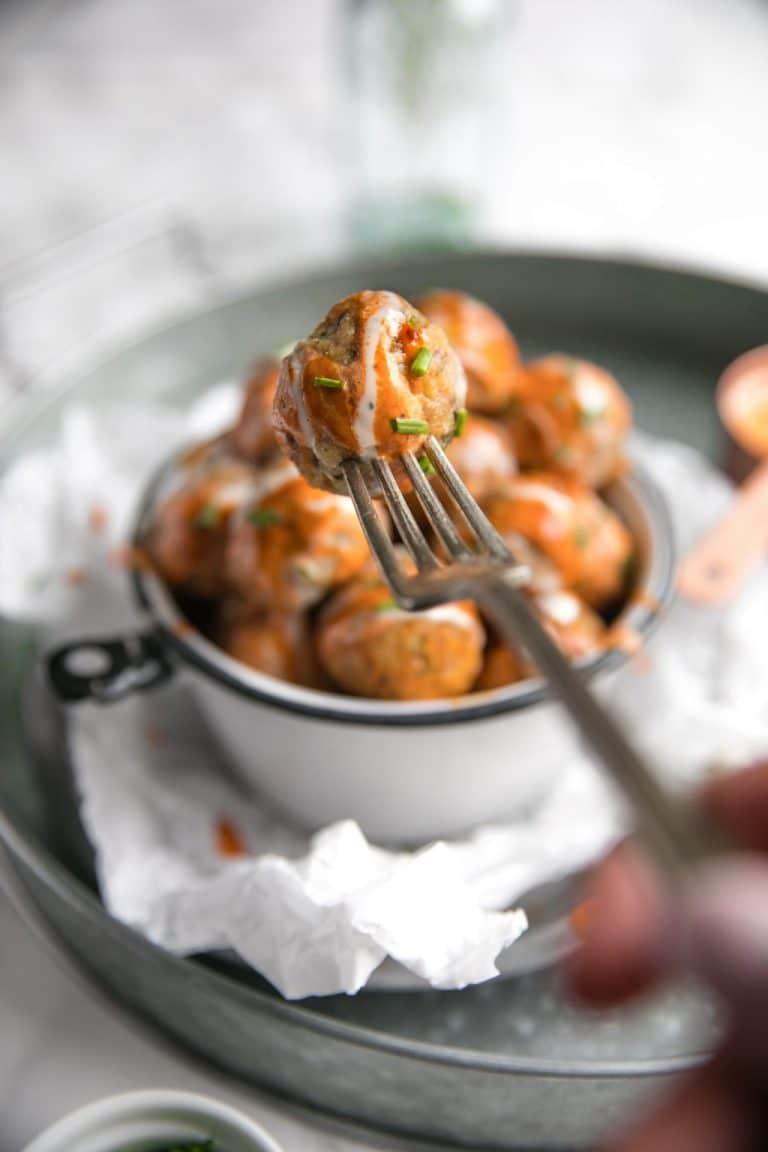 Buffalo Turkey Meatballs with Easy Meal Prep Bowls