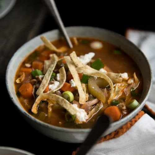 Healthy Buffalo Chicken Soup