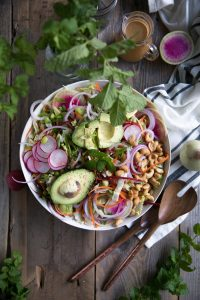 Cabbage Salad with Miso Vinaigrette