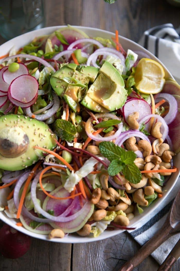 Cabbage Salad with Miso Vinaigrette