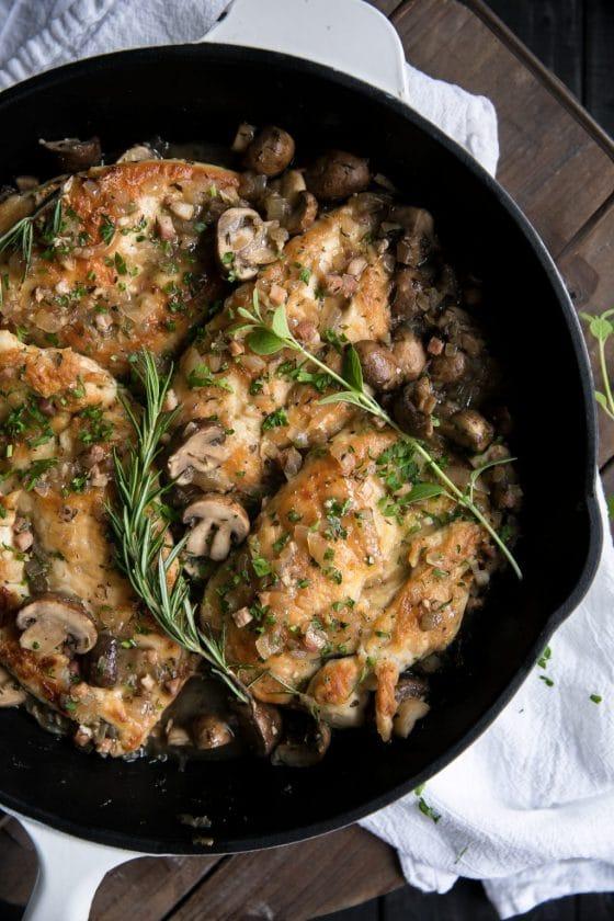 Easy Skillet Chicken Marsala with Pancetta