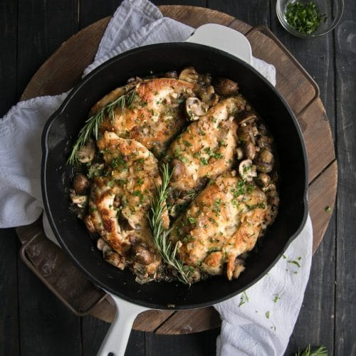 Easy Skillet Chicken Marsala with Pancetta
