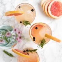 Elderflower and Grapefruit Gin and Tonics