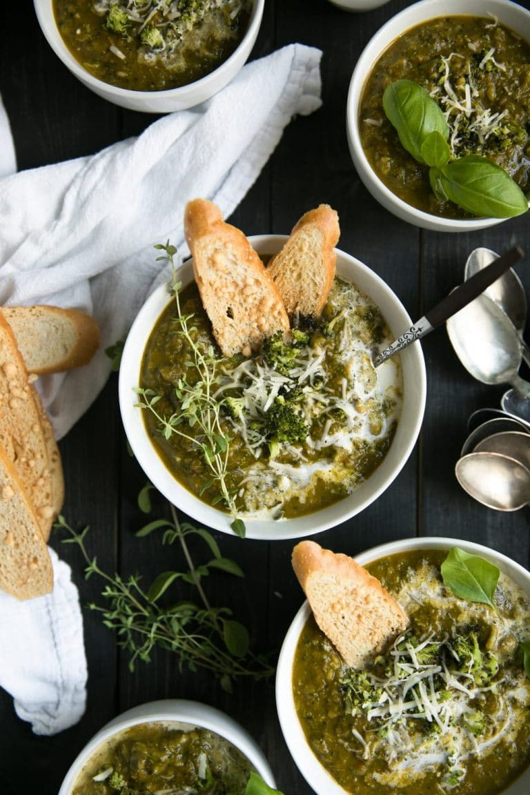 Healthy Roasted Broccoli Carrot Soup