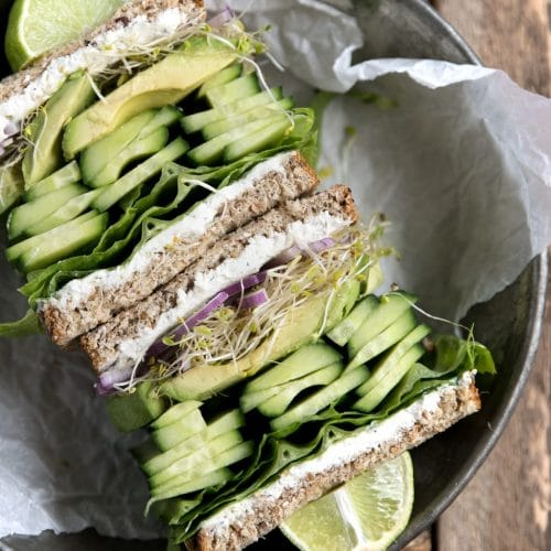 Herbed Goat Cheese and Avocado Sandwich