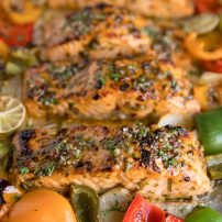 Easy Sheet Pan Chili Lime and Orange Salmon