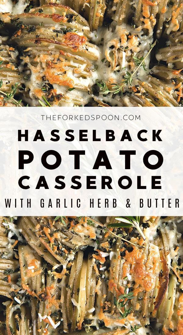 Crispy Hasselback Potato Casserole Pinterest Pin Collage