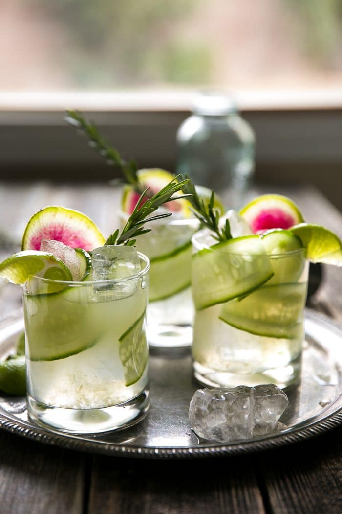 Cucumber Rosemary Gin and Tonic