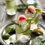 Cucumber and Rosemary Gin and Tonic (aka The Drunk Cucumber)