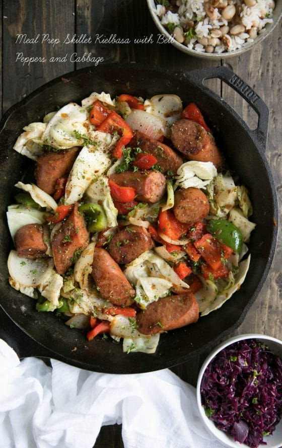 Meal Prep Skillet Kielbasa with Bell Peppers
