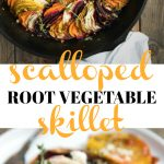 Scalloped Root Vegetable Skillet