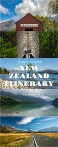 south island new zealand itinerary