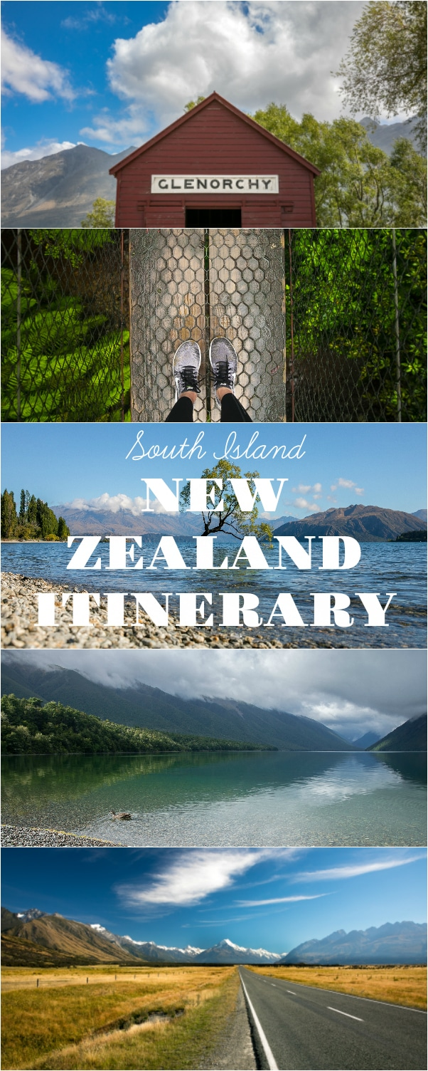South Island New Zealand Itinerary. 18 days and 17 nights in New Zealand will show you glaciers, lakes, oceans, rainforest, and mountains. Detailed Map included. Post via @theforkedspoon #travel #newzealand #southislandnewzealand #roadtrip #itinerary