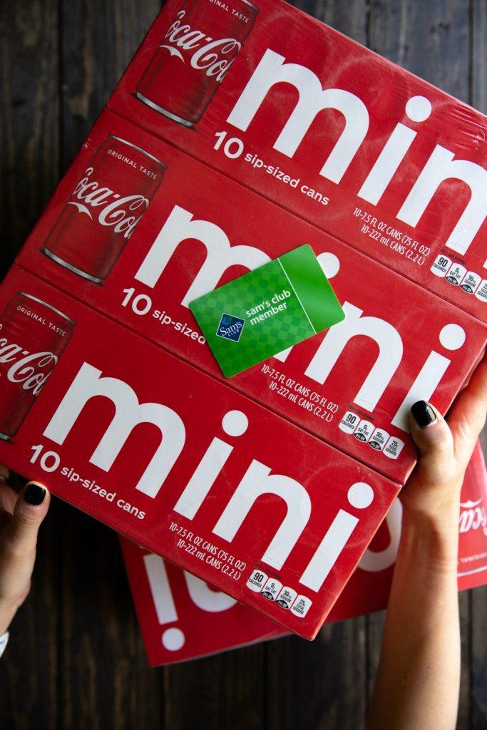 coca-cola mini cans found at Sam's club