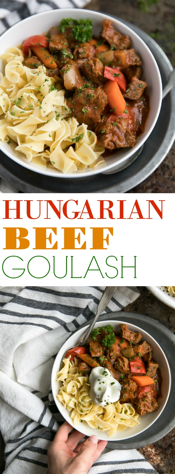 Easy Hungarian Beef Goulash via @theforkedspoon #beefgoulash #hungarianbeefgoulash #beefstew #easyrecipe #comfortfood #familyrecipe #recipe #stewrecipe | For this recipe and more visit, https://theforkedspoon.com/hungarian-beef-goulash/