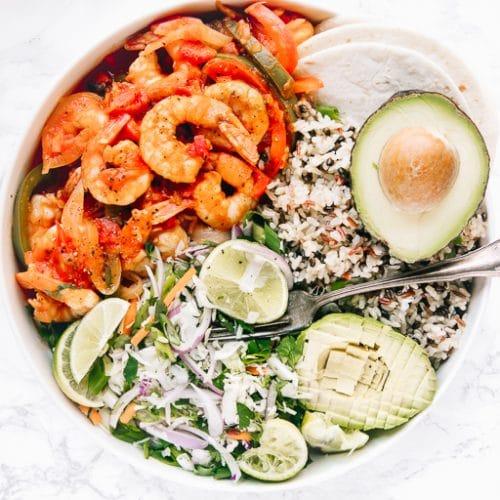 A plate of shrimp camarones